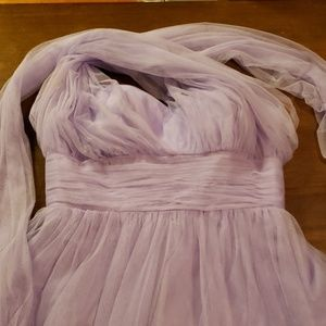 Christina wu lilac bridesmaid dress